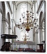 Westerkerk Interior In Amsterdam Canvas Print