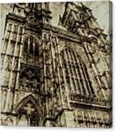 Westminster Abbey London Vintage Canvas Print
