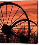 Wheel-n-axle Sunset.. Canvas Print