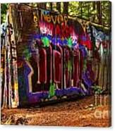 Whistler Train Wreck Box Car Canvas Print