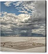 White Sands Rain Canvas Print