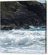 White Surf Canvas Print