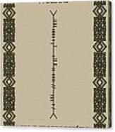 White Written In Ogham Canvas Print