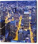 Wide Seattle Cityscape Canvas Print