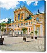 Wilanow Palace In Warsaw Poland Canvas Print