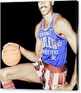 Wilt Chamberlain As A Member Of The Harlem Globetrotters  Canvas Print