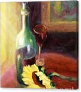 Wine And Sunflower Canvas Print