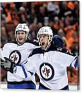 Winnipeg Jets V Anaheim Ducks - Game One Canvas Print