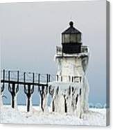 Winter At St Joseph's Light Canvas Print