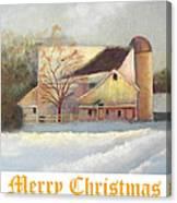 Winter Hush Holiday Card1 Canvas Print