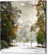 Winter In Autumn Canvas Print