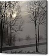 Winter Sunset In Kedron Valley II Canvas Print