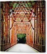 Wohler Bridge Over The Russian River Canvas Print