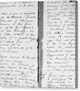 Wolfe Journal, 1759 Canvas Print