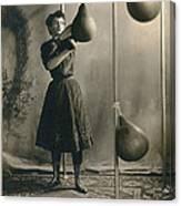 Woman Boxing Workout Canvas Print
