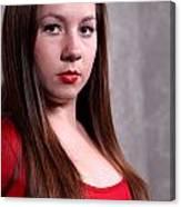 Woman Red Dress Canvas Print