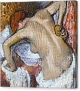 Woman Sponging Her Back Canvas Print