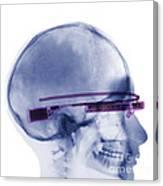 Woman Wearing Google Glass X-ray Canvas Print