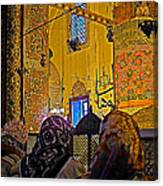 Women At Rumi's Mausoleum In Konya-turkey  Canvas Print