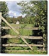 Wooden Gate Sussex Uk Canvas Print