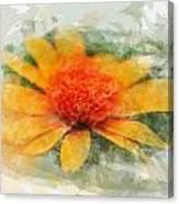 Woodland Sunflower Canvas Print