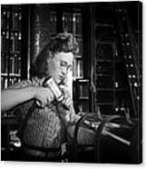 Working With The Hand Drill 1942 Canvas Print