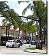 Worth Ave Palm Beach Fl Facing West Canvas Print