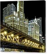 Wrigley Building At Night Canvas Print