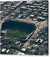 Wrigley Field From The Air Canvas Print