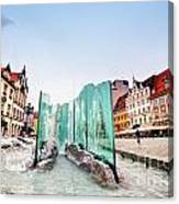Wroclaw Poland The Market Square With The Famous Fountain Canvas Print
