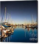 Yacht At The Pier  Canvas Print