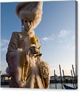 Venetian Carnival. Yellow Rose Charmer By Zina Zinchik Canvas Print