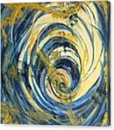 Yellow Spiral Canvas Print