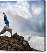 Yoga On Mountain Canvas Print