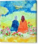 Yogananda And Swami Kriyananda Canvas Print