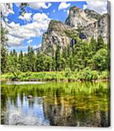 Yosemite Merced River Rafting Canvas Print