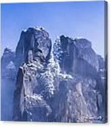 Yosemite Stone And Snow Canvas Print