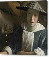 Young Girl With A Flute Canvas Print