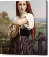 Young Shepherdess Canvas Print