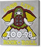 Zoo 98 Elephant Yellow Canvas Print