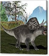 Zuniceratops Dinosaur Canvas Print