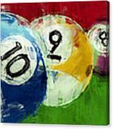10 9 8 Billiards Abstract Canvas Print
