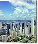 Aerial View Of A City, Chicago, Cook Canvas Print