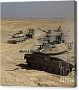 An Israel Defense Force Merkava Mark Iv Canvas Print