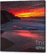 Campelo Beach Galicia Spain Canvas Print