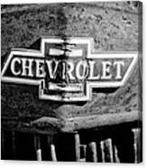Chevrolet Grille Emblem Canvas Print