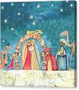 Christmas Nativity Scene Canvas Print
