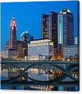 Fx2l-516 Columbus Ohio Night Skyline Photo Canvas Print