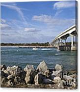 Fishing At Sebastian Inlet In Florida Canvas Print