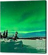 Intense Display Of Northern Lights Aurora Borealis Canvas Print